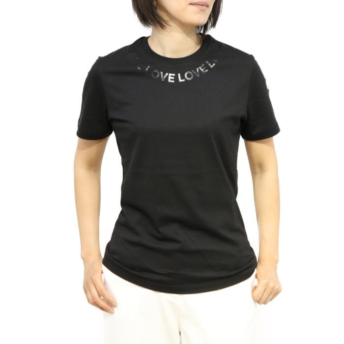 【送料無料!】モンクレール MONCLER レディース 半袖Tシャツ 8C72410 V8094 999 ブラック【BK】 2020SPSU