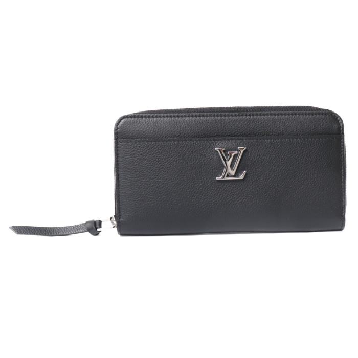 ルイヴィトン LOUIS VUITTON 小銭入れ付き 長財布 ジッピー ロックミー M62622 ブラック レディース