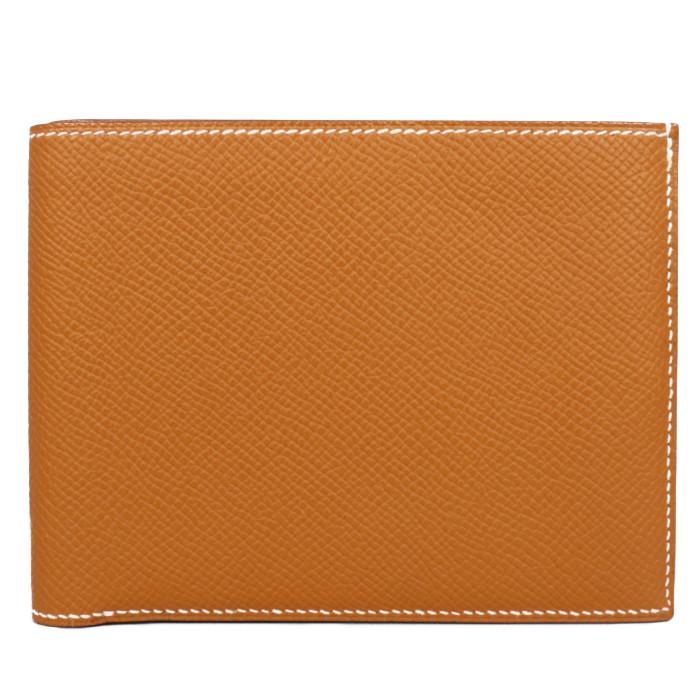 【送料無料!】エルメス HERMES 小銭入れ付き 二つ折り財布 043007CK37 エプソン ゴールド メンズ