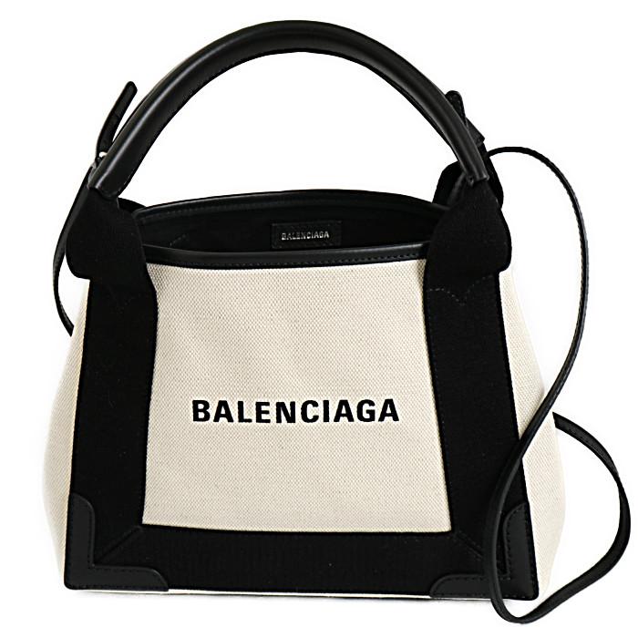 バレンシアガBALENCIAGAトートバッグNAVYCABASXS390346AQ38N1081ナチュラルブラックレディース