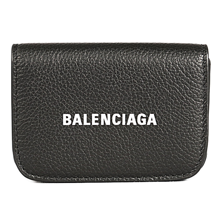 バレンシアガ小銭入れ付き三つ折り財布CASHMINキャッシュミニ5938131IZ4M1090ブラックメンズレディース