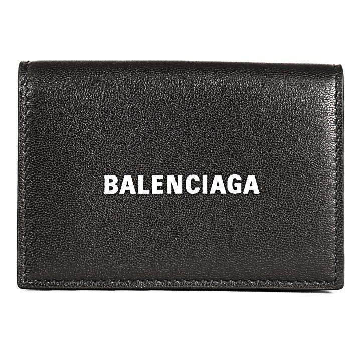 バレンシアガ小銭入れ付き三つ折り財布CASHMINIキャッシュミニ5943121I3131090ブラックメンズレディース