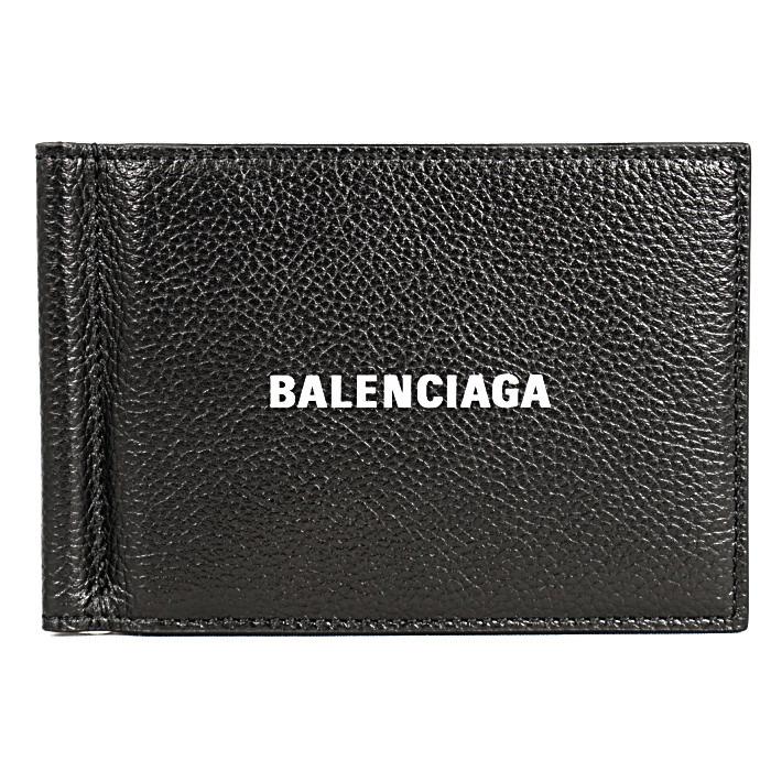 バレンシアガBALENCIAGA二つ折り財布CASHSQUAREWALCLIP5943081IZ431090ブラックメンズレディース