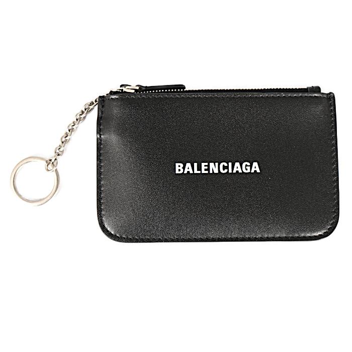 バレンシアガBALENCIAGAコインケースCASHKEYCOINZIP5943241I3131090ブラックメンズレディース