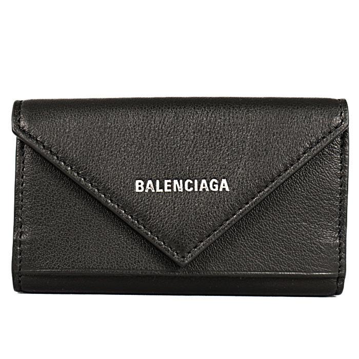 バレンシアガBALENCIAGAキーケースPAPIERペーパー499204DLQ0N1000ブラックメンズレディース