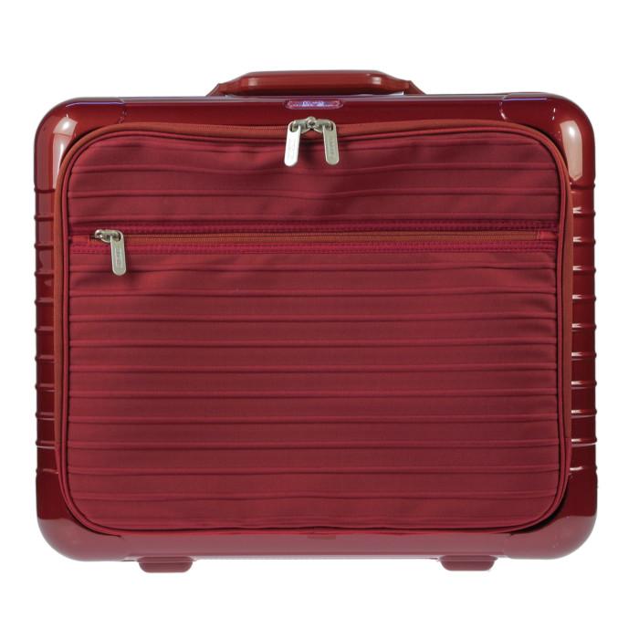 【送料無料】【お取り寄せ】リモワ RIMOWA スーツケース サルサデラックスハイブリット 840.50.53.2 32L 3.8kg オリエントレッド 2泊~3泊目安 TSAロック 2輪 機内持ち込み可