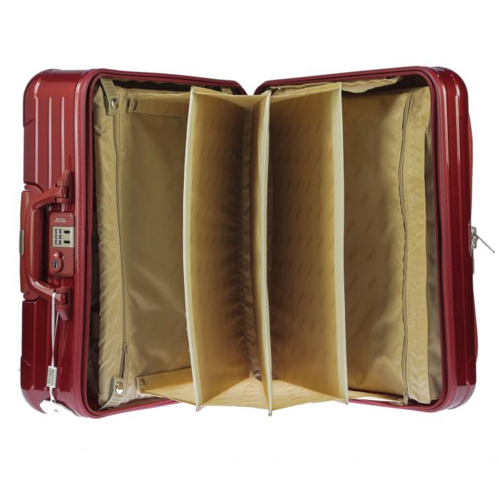 【お取り寄せ】リモワRIMOWAスーツケースサルサデラックスハイブリット840.50.53.232L3.8kgオリエントレッド2泊~3泊目安TSAロック2輪機内持ち込み可
