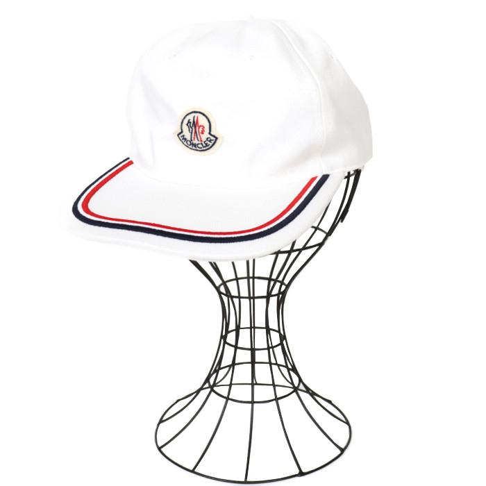 【送料無料!】モンクレール ベースボールキャップ ユニセックス 00981 55 V0001 001 ホワイト WH 【MONCLER】
