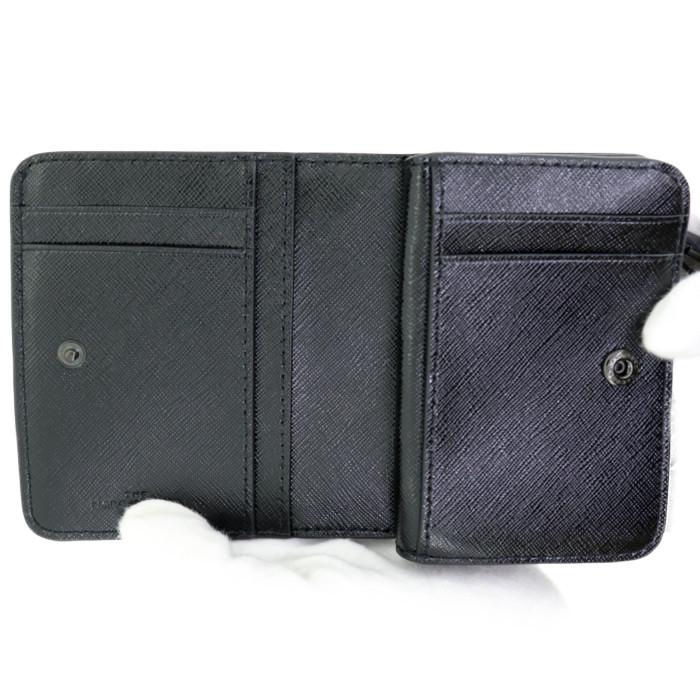 【お取り寄せ】マークジェイコブスMARCJACOBS小銭入れ付き二つ折り財布スナップショットDTMM0014986001ブラックレディース