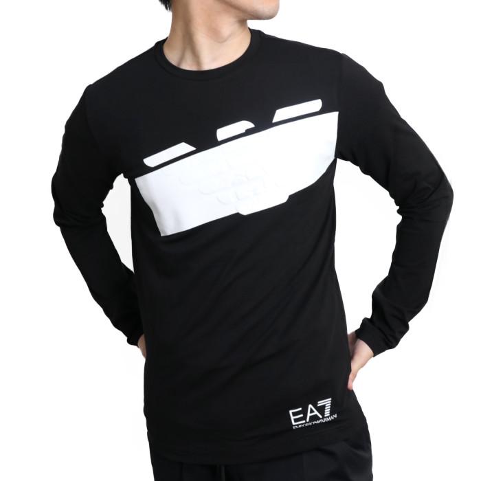 【送料無料!】イーエーセブン EA7 メンズ 長袖Tシャツ 6HPT32 1200BK 1200 ブラック【BK】