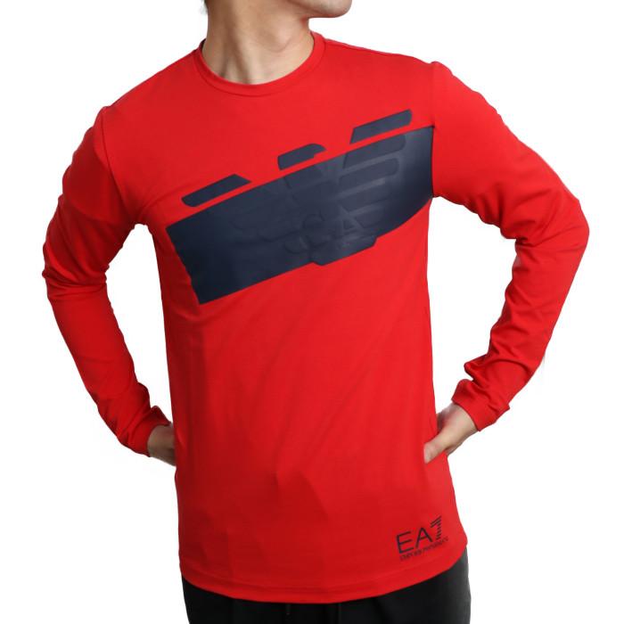 【送料無料!】イーエーセブン EA7 メンズ 長袖Tシャツ 6HPT32 1451RD 1451 レッド【RD】