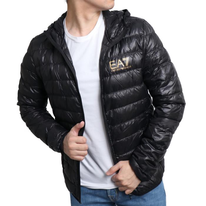 【送料無料!】イーエーセブン EA7 メンズ ダウンジャケット 8NPB02 0208  ブラック【BK】
