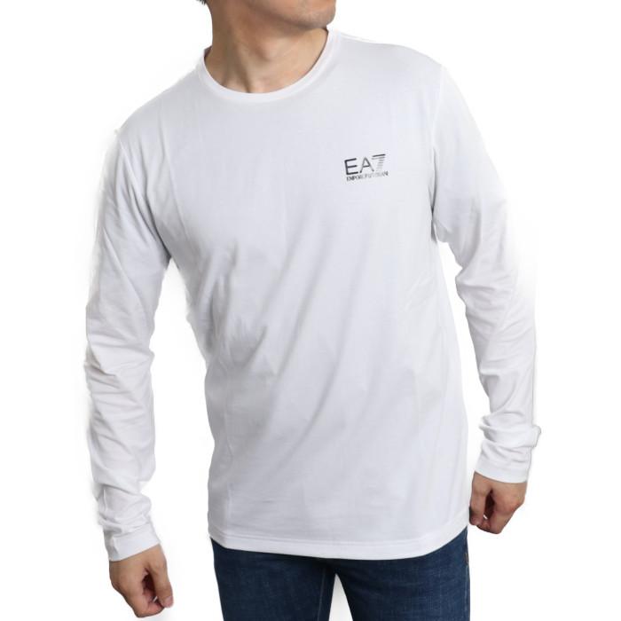 イーエーセブン EA7 メンズ 長袖Tシャツ 8NPT55 1100  ホワイト【WH】