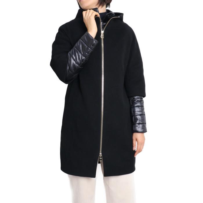 【送料無料!】ヘルノ HERNO レディース 中綿コート CA0040D-M01 9300 ブラック【BK】