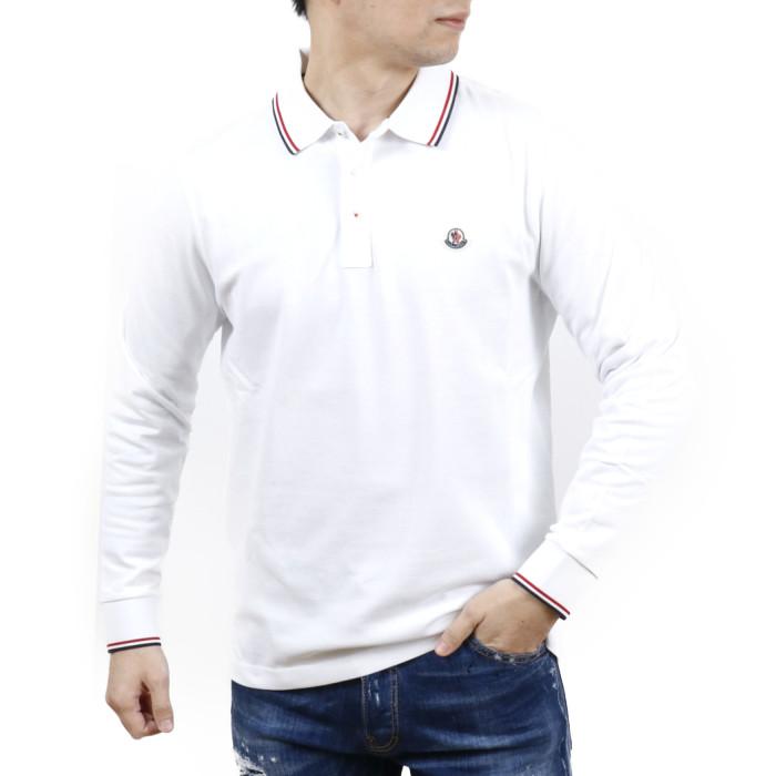 【送料無料!】モンクレール MONCLER メンズ 長袖ポロシャツ 8B701 8B70100 84556 001 ホワイト【WH】