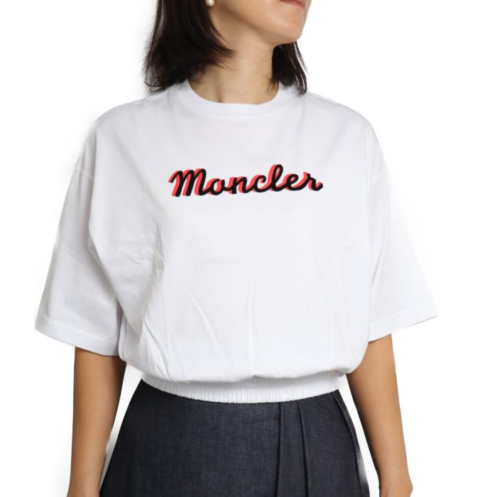 【送料無料!】モンクレール MONCLER レディース カットソー 8C77510 V8161 001 ホワイト【WH】