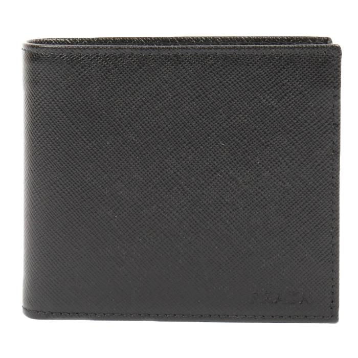 【送料無料!】プラダ PRADA 二つ折り財布 小銭入れ付き 2MO738 053 F0002 ネロ メンズ NERO