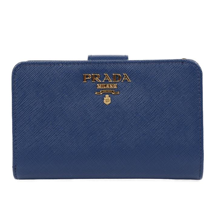 【送料無料!】プラダ PRADA 二つ折り財布 小銭入れ付き 1ML225 QWA F0016 ブリエッタ レディース  BLUETTE