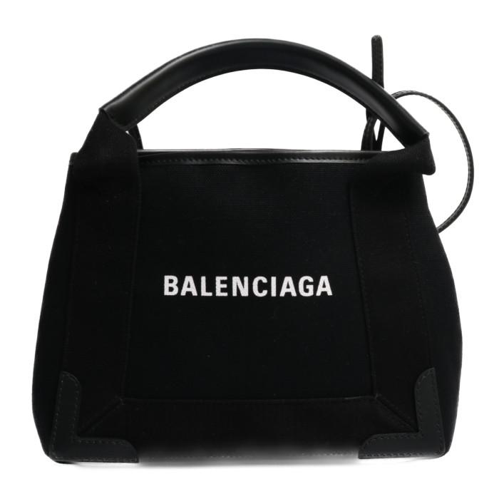【送料無料!】バレンシアガ BALENCIAGA トートバッグ NAVY CABAS XS 390346 AQ38N 1000 ブラック レディース