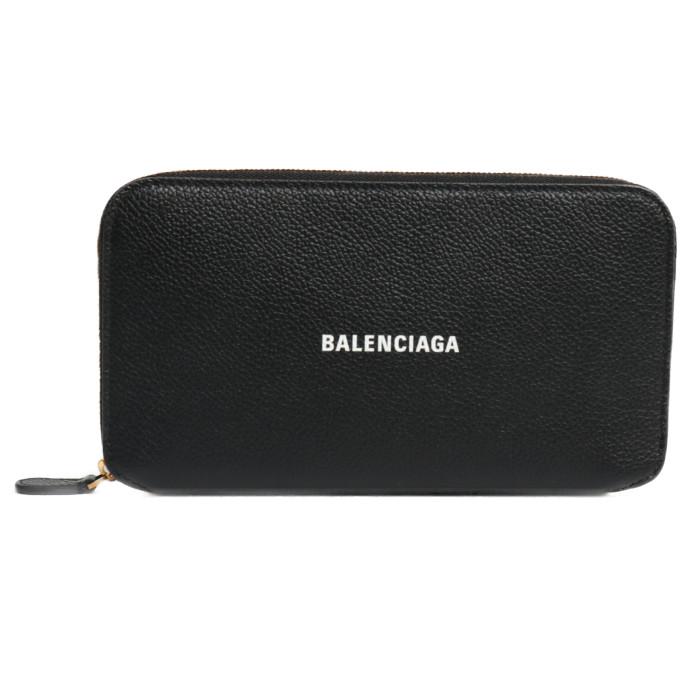 【送料無料!】バレンシアガ BALENCIAGA 長財布 小銭入れ付き 594290 1IZIM 1090 ブラック レディース