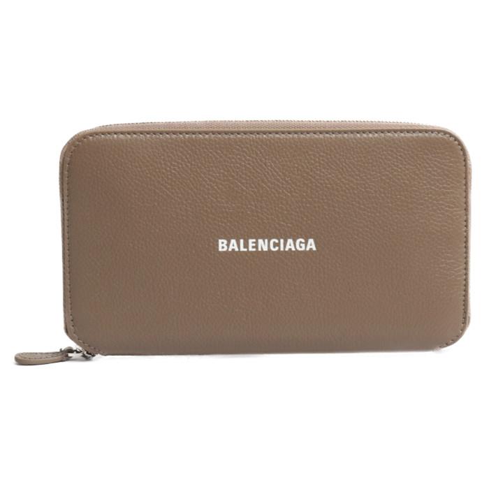【送料無料!】バレンシアガ BALENCIAGA 長財布 小銭入れ付き 594290 1IZI3 1290 ライトブラウン レディース