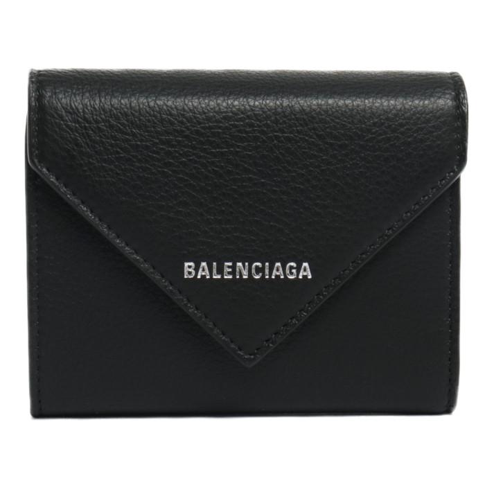 【送料無料!】バレンシアガ BALENCIAGA 三つ折り財布 小銭入れ付き 615653 DLQ0N 1000 ブラック レディース