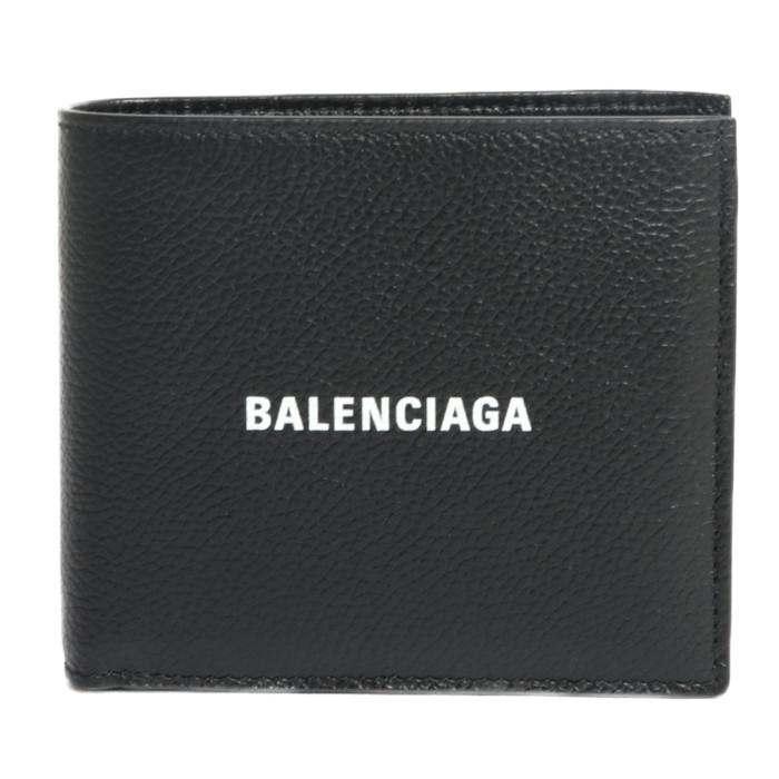 【送料無料!】バレンシアガ BALENCIAGA 二つ折り財布 小銭入れ付き 594315 1IZI3 1090 ブラック ユニセックス メンズ レディース