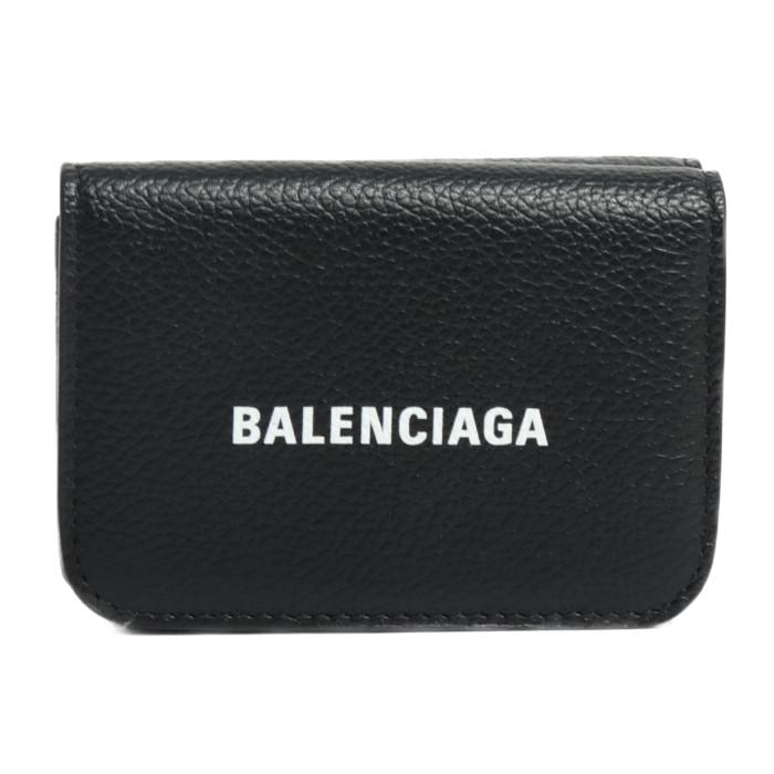 【送料無料!】バレンシアガ BALENCIAGA 三つ折り財布 小銭入れ付き 593813 1IZIM 1090 ブラック ユニセックス メンズ レディース