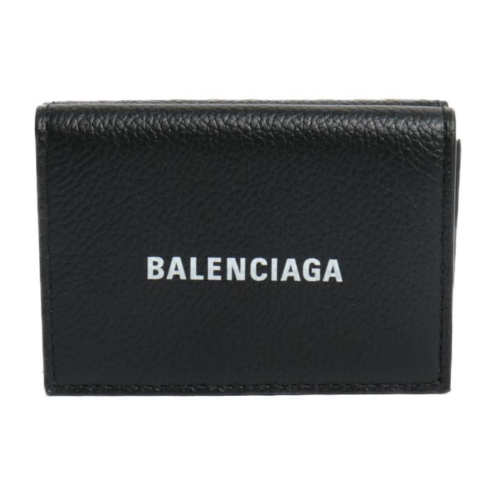 【送料無料!】バレンシアガ BALENCIAGA 三つ折り折り財布 小銭入れ付き 594312 1IZ43 1090 ブラック ユニセックス メンズ レディース