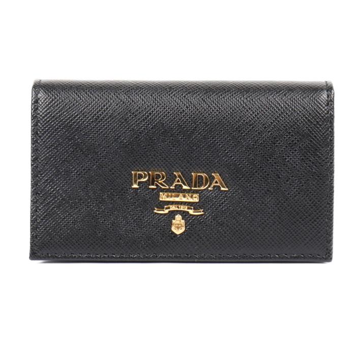 【送料無料!】プラダ PRADA 名刺入れ カードケース 1MC122 QWA F0002 ネロ レディース NERO