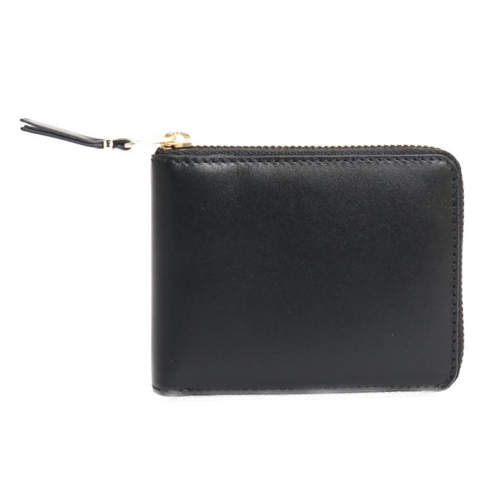 【送料無料!】コムデギャルソン COMME des GARCONS 二つ折り財布 小銭入れ付き SA7100 ブラック ユニセックス メンズ レディース
