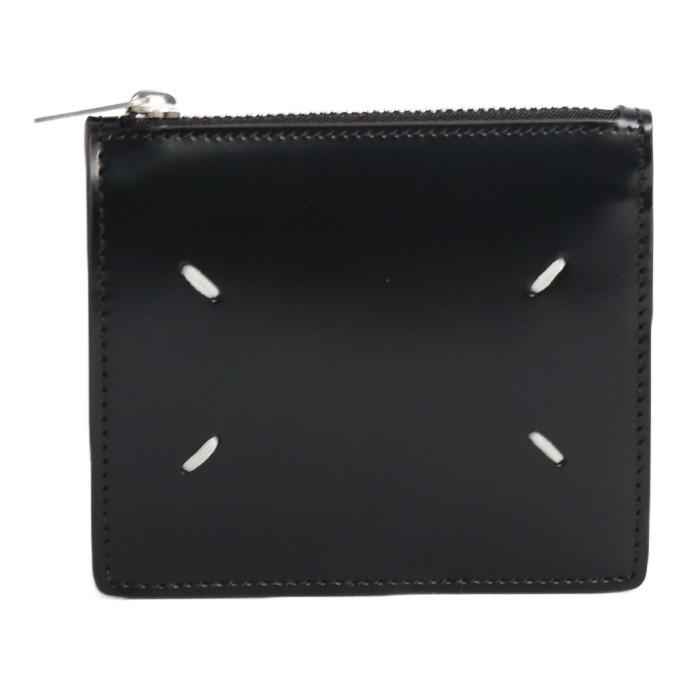 【送料無料!】メゾンマルジェラ MAISONMARGIELA 二つ折り財布 小銭入れ付き S35UI0448 P2714 ブラック ユニセックス メンズ レディース