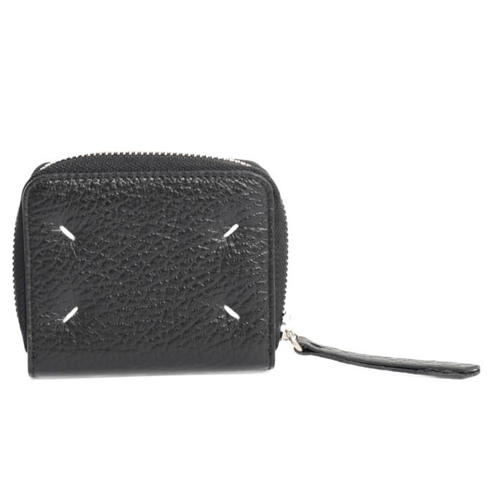 【送料無料!】メゾンマルジェラ MAISONMARGIELA 二つ折り財布 小銭入れ付き ミニ財布 S56UI0112 P0399 ブラック ユニセックス レディース メンズ