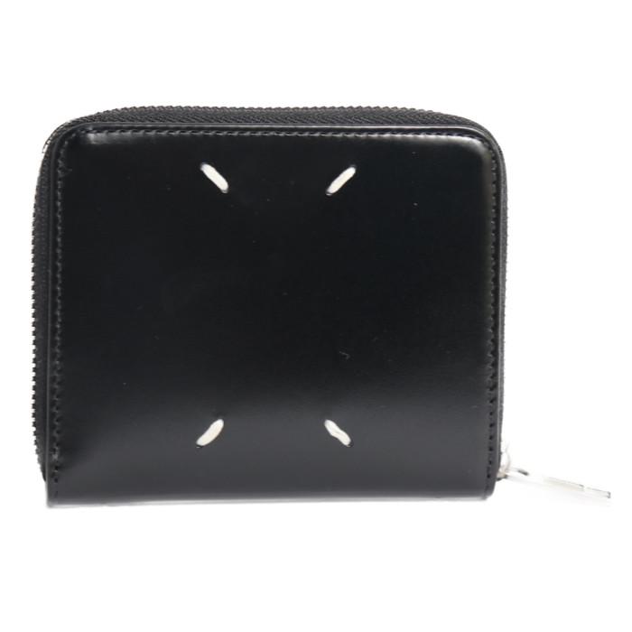 【送料無料!】メゾンマルジェラ MAISONMARGIELA 二つ折り財布 小銭入れ付き ミニ財布 S55UI0197 P2714 ブラック メンズ