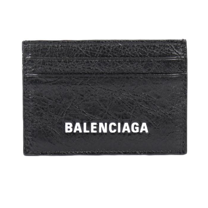 【送料無料!】バレンシアガ BALENCIAGA パスケース 定期入れ カードケース 504932 DB505 100 ブラック メンズ