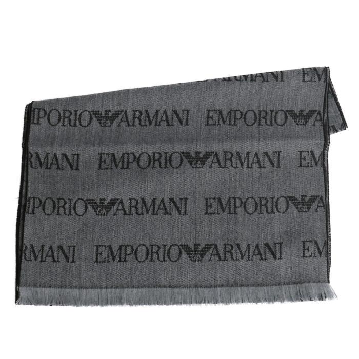 【送料無料!】エンポリオアルマーニ EMPORIO ARMANI マフラー 625053 CC786 グレー メンズ