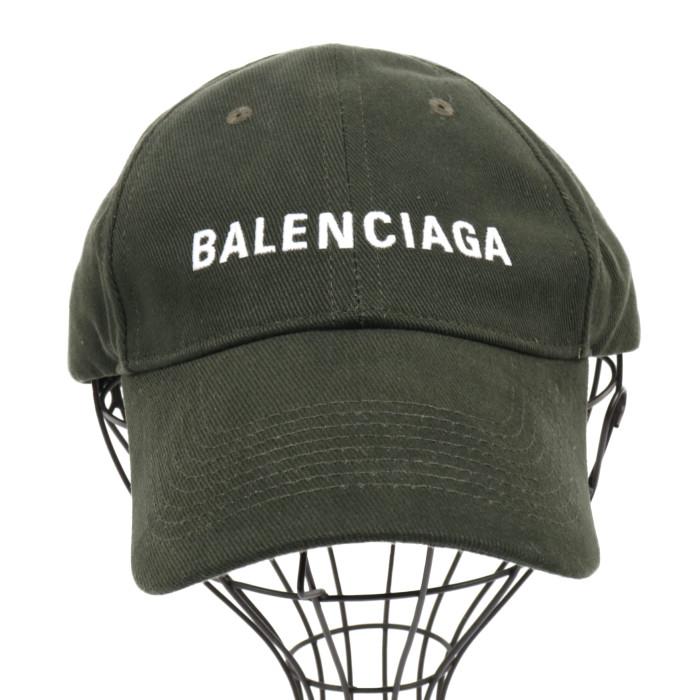 【送料無料!】バレンシアガ BALENCIAGA 帽子 キャップ 590758 410B2 2177 ダークグリーン メンズ