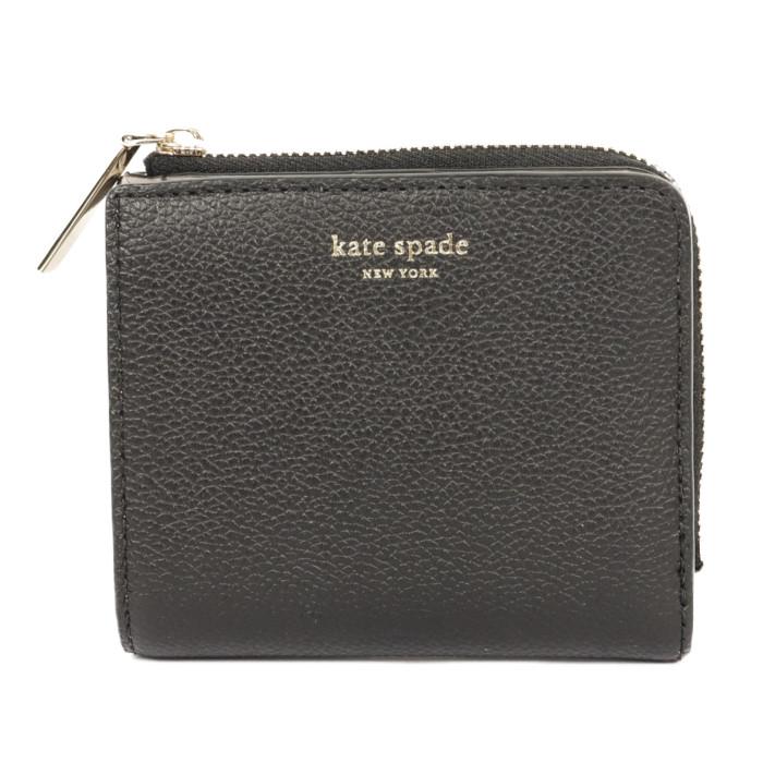 【送料無料!】ケイトスペード kate spade 二つ折り財布 小銭入れ付き PWRU7160 001 BLACK