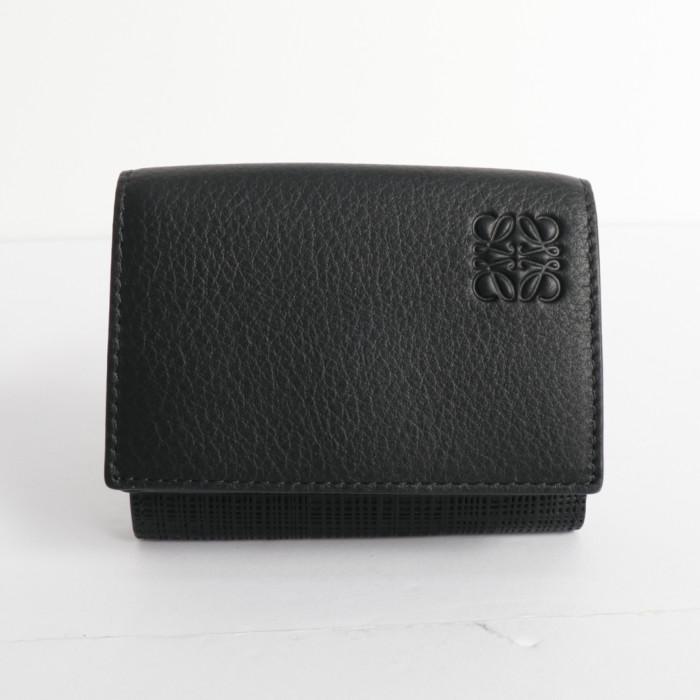 【送料無料!】ロエベ LOEWE トリフォルド 三つ折り財布 コンパクトウォレット 101.88.S26.1100 ブラック BK
