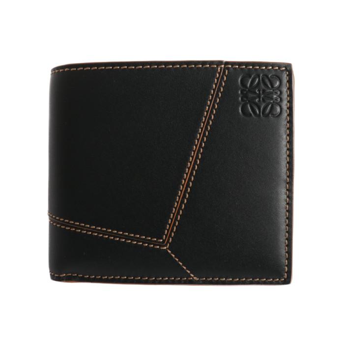 【送料無料!】ロエベ LOEWE パズル ステッチ 折り財布 C510118X01.1100 ブラック BK