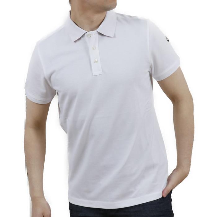 【送料無料!】モンクレール MONCLER メンズ 半袖 ポロシャツ 8A705 8A70510 84556 001 ホワイト【WHITE】