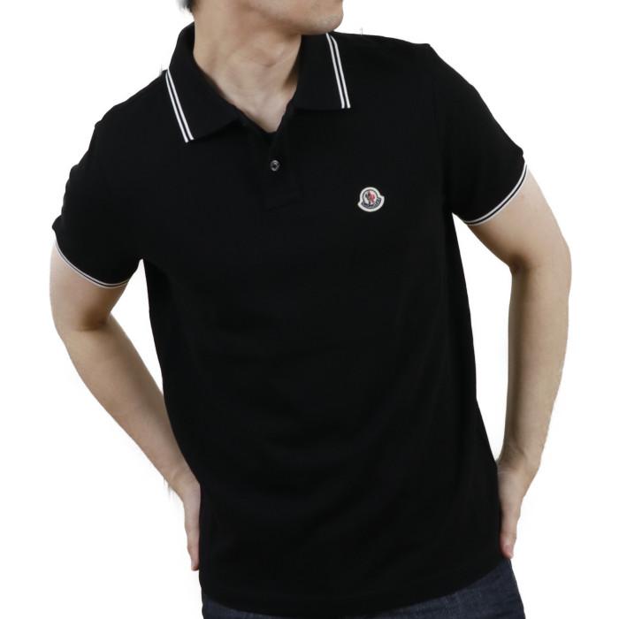 【送料無料!】モンクレール MONCLER メンズ 半袖 ポロシャツ 8A706 8A70600 84556 999 ブラック【BLACK】