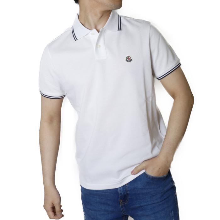 【送料無料!】モンクレール MONCLER メンズ 半袖 ポロシャツ 8A706 8A70600 84556  ホワイト【WHITE】