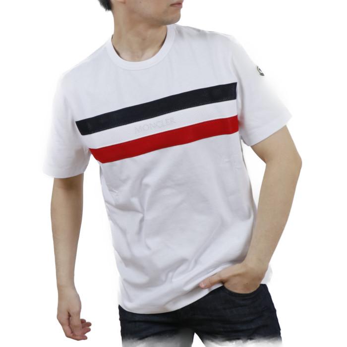 【送料無料!】モンクレール MONCLER メンズ 半袖 Tシャツ カットソー 8C7B5 8C7B510 8390T 001 ホワイト【WHITE】