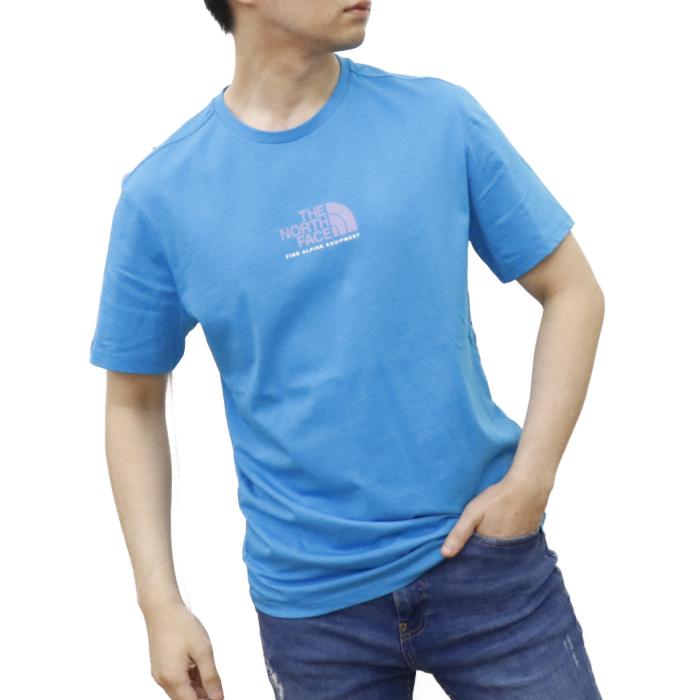 ノースフェイス THE NORTH FACE メンズ 半袖 Tシャツ カットソー NF0A4SZU D7R  ライトブルー【LIGHTBLUE】