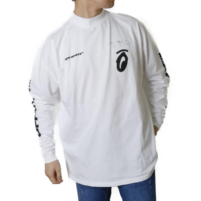 【送料無料!】オフホワイト OFFWHITE メンズ 長袖 Tシャツ カットソー ロンT OMAB032E19185010  ホワイト【WHITE】
