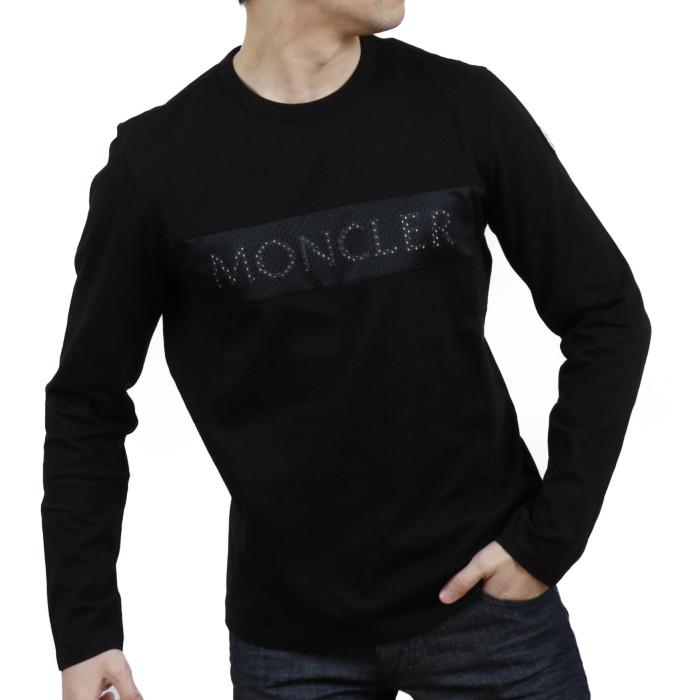 【送料無料!】モンクレール MONCLER メンズ 長袖 クルーネック Tシャツ 8D718 8D71810 8390T 999 ブラック【BLACK】 サイズ【XXL】
