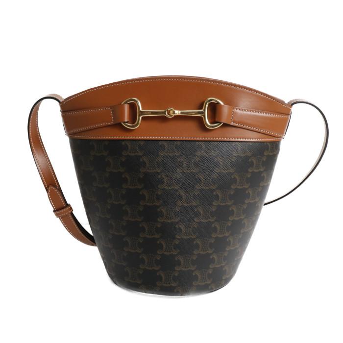 【送料無料!】セリーヌ CELINE ショルダーバッグ Bucket Crecy 19207 2CQV 04LU バケット クレシー タン レディースTAN