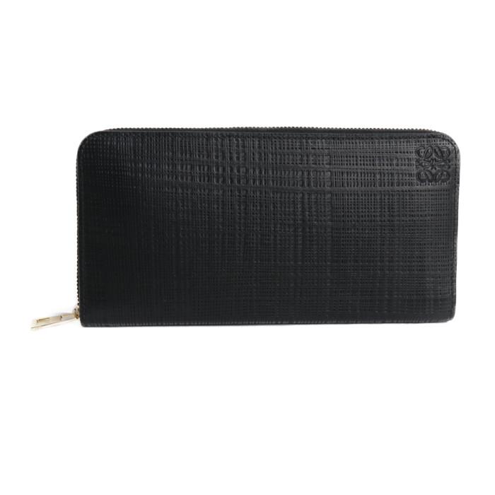 【送料無料!】ロエベ LOEWE 小銭入れ付き 長財布 リネン ジップ アラウンド ウォレット C525T12X01 1100 ブラック メンズ
