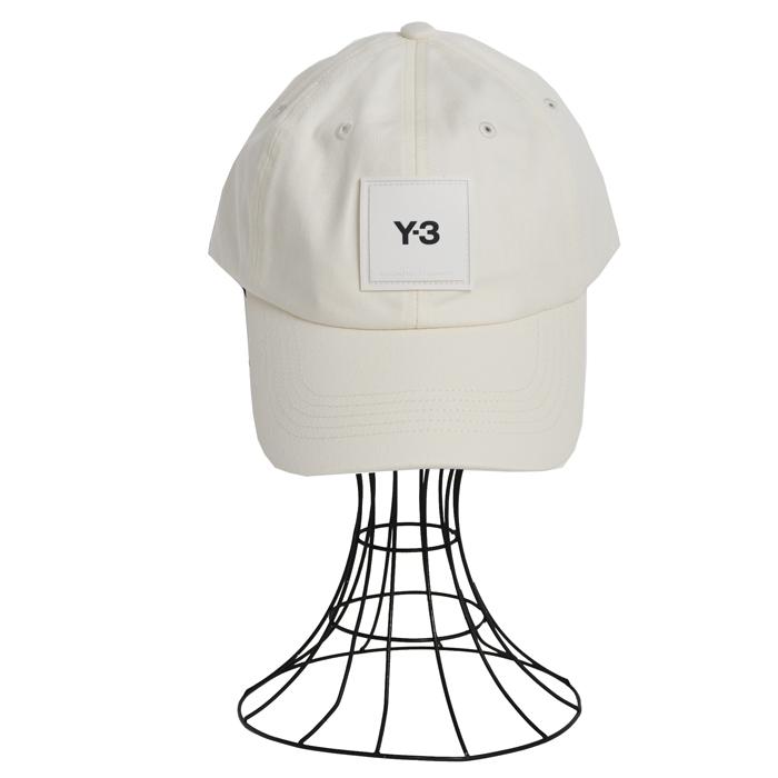 Y-3 ワイスリー ベースボールキャップ SQUARE LABEL CAP1S H15772 クリームホワイト メンズ レディース ユニセックス